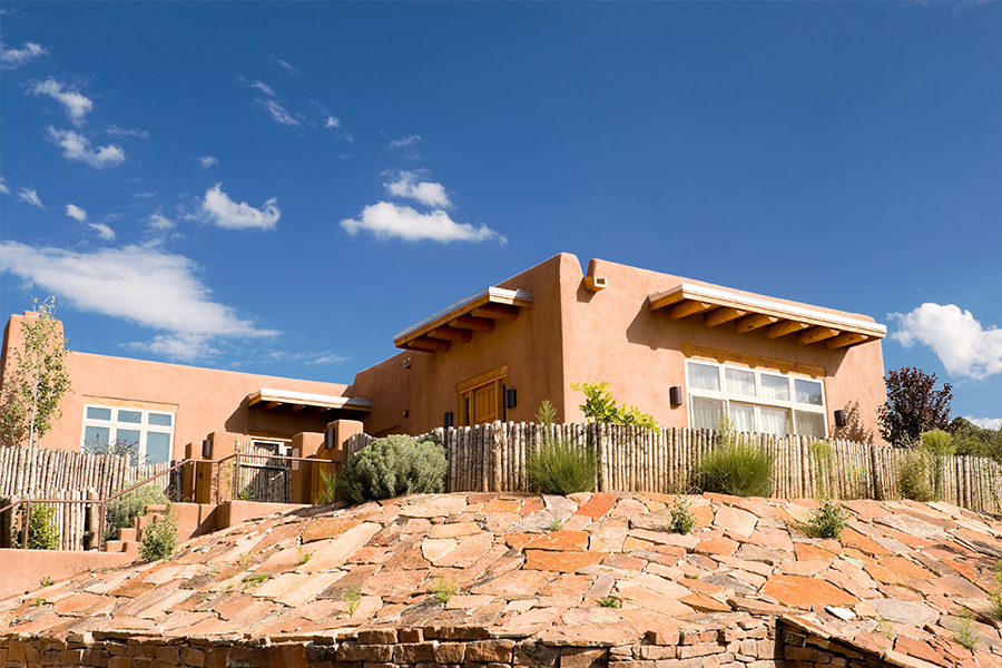 Southwest style adobe home